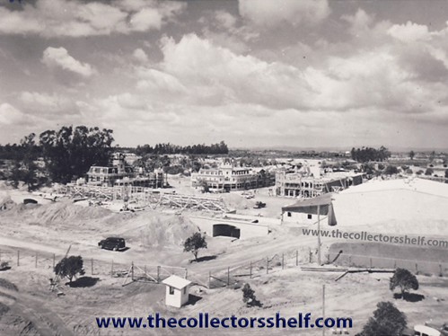 Disneyland entrance during construction in 1954