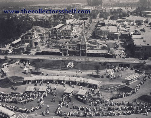 Disneyland Opening Day Aerial on July 17, 1955